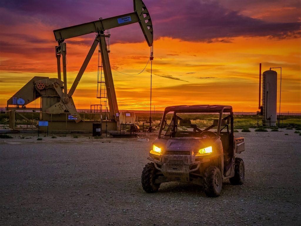 Buggy at dawn in Orla, TX